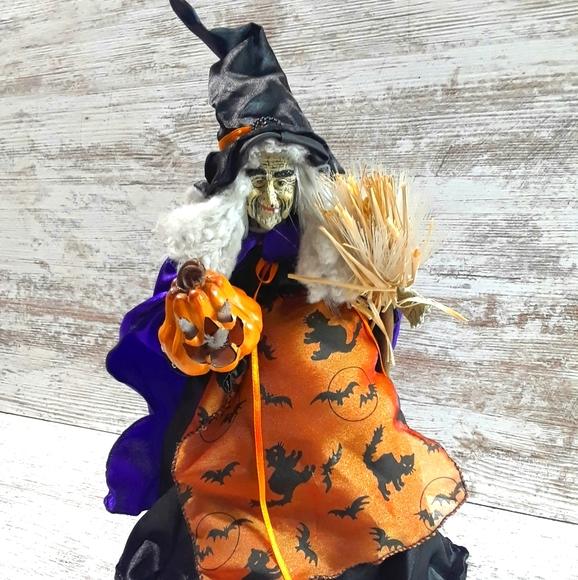 Vintage Witch Tree topper JOL Halloween
